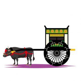 牛車に乗る