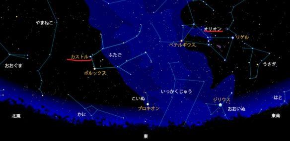 ふたご座流星群の見つけ方